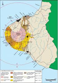 United States Fault Lines Map by An Example Of A Volcanic Hazard Map For Mount Taranaki As Used In