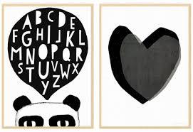 poster chambre fille des affiches enfant en noir et blanc joli place