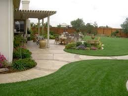 landscaping ideas for flat backyard the garden inspirations