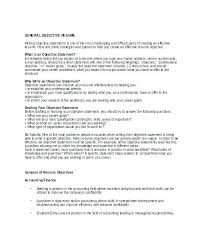 objective on resume exles resume exles objective statement general general resume