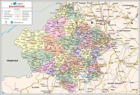 Map Of India Cities Rajasthan Travel Map Rajasthan State Map With Districts Cities