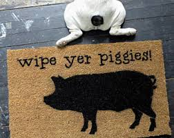 Wipe Your Paws Footprint Doormat Wipe Your Feet Etsy