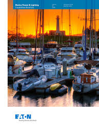 marina power and lighting marina power and lighting capabilities brochure eaton pdf