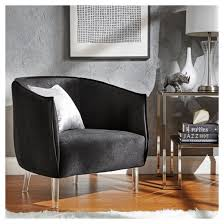 Barrel Accent Chair Marilyn Glam Velvet Acylic Barrel Accent Chair Inspire Q Target