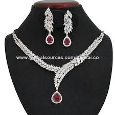 cubic zirconia necklace set images Cubic zirconia necklace set global sources jpg