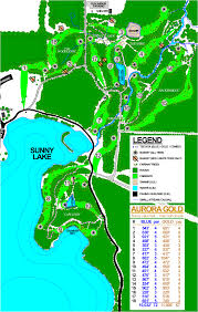 Aurora Map Sunny Lake Disc Golf Course Professional Disc Golf Association