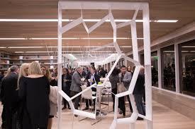 designers gather at teknion u0027s los angeles showroom