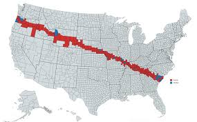 Map Of Red And Blue States by The 2017 Solar Eclipse Is Coming U2014 To Trump Country The Boston Globe