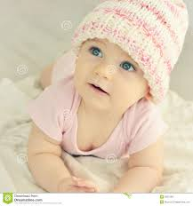 newborn baby in knitted hat stock photo image 50315901