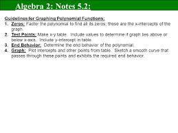evaluate and graph polynomial functions goals u201c u201d algebra 2