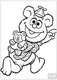 coloring pages cartoons baby gonzo is race driver colorpages7 com