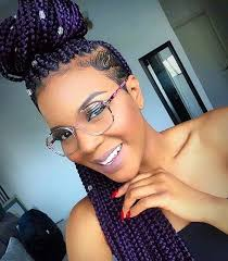 box braids on shaved hair purple braids styles 35 gorgeous purple braids hairstyles