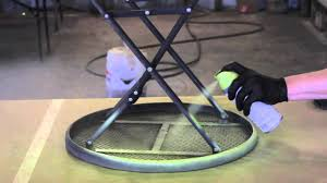 How To Refinish Wrought Iron Patio Furniture by How To Paint Metal Lawn Furniture Furniture Restoration Youtube
