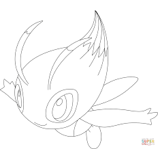 celebi coloring page free printable coloring pages