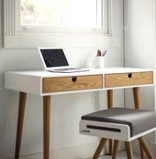 bureau 50 cm profondeur desk lacquered in white and oak drawers bureau dressing table