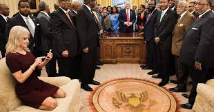 Oval Office Gold Curtains Kellyanne Conway Long History Of Casual White House Moments
