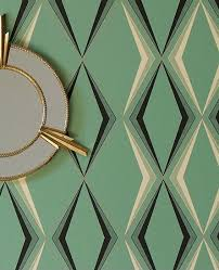 vintage wallpaper deco enamel inspired by 1930s