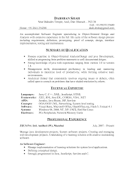 Entry Level Java Developer Resume Cover Letter For Software Engineer Fresher Image Collections