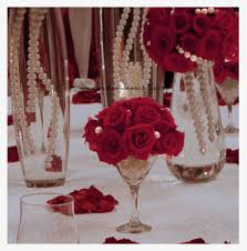 martini champagne rose wedding decoration inspiring dining table decoration with red