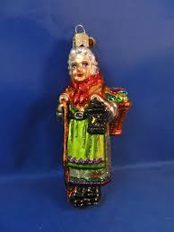 italy italian good witch la befana old world glass christmas