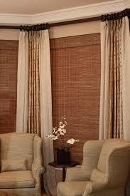 window idea espresso rod at top pinch pleat drapes clip rings