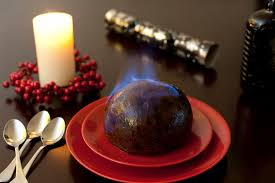 photo of flaming brandy pudding free christmas images