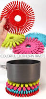 40 amazing crafts to make and sell decorextra colorful clothespin trivets