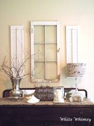 Shutters For Inside Windows Decorating Vintage Shutters Decor Shutter Bookcase Shelves Distressed Shelf