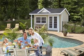 Pool Houses And Cabanas Swimming Pool House Sheds And Cabanas Beach Style Pool