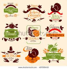thanksgiving day set vector tradition sm auf