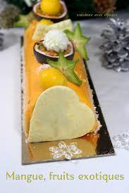recettes cuisine noel buche de noel mousse de fruit exotique recettes faciles recettes