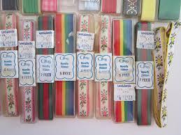 offray ribbon vintage offray ribbon trim assortment novelty ribbon grosgrain