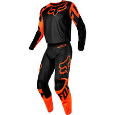 fox helmets motocross fox racing 2017 mx new 180 race black orange jersey pants