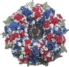 wreaths crosses american legion flag emblem