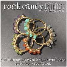 Bead Jewelry Making Classes - bespangled jewelry rock candy rings my first live jewelry