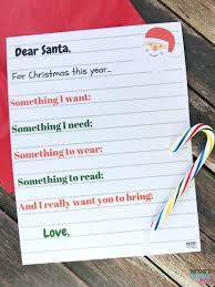 free printable kids christmas wish list santa letter must have mom