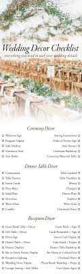 planning a wedding ceremony use this wedding décor checklist to help you nail every detail