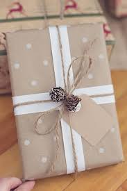 brown gift wrapping paper simple christmas gift wrapping give simple