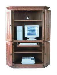 Computer Desk Armoires Computer Armoire Amish Corner Computer Armoires