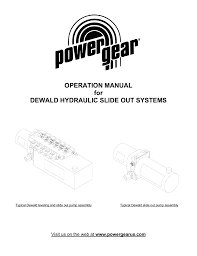 operation manual for dewald hydraulic slide out