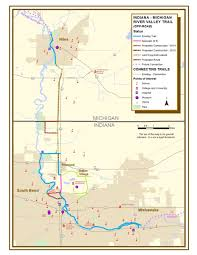 St Joseph River Map Lasalle Trail Segment St Joseph County In Bike The Bend