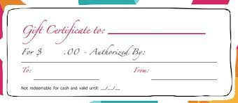 printable gift certificate template word uses for gift certificate