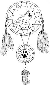 wolves dream catcher coloring pages wolf dreamcatchers