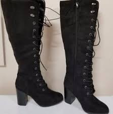 target s boots target karlee knee high pirate black lace up boots