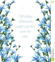 watercolor blue flowers wedding card stock vector illustration
