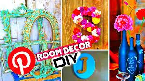 Bedroom Decor Diy Pinterest by Diy Room Decor For Cheap Pinterest U0026 Inspired Youtube