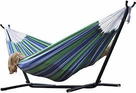 vivere double hammock u0026 9 u0027 steel stand oasis