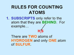 Counting Atoms Worksheet 1 Counting Atoms