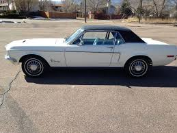 wimbledon white 1968 ford mustang for sale mcg marketplace