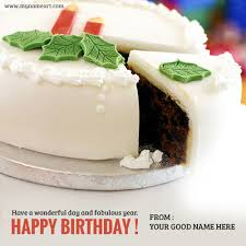 write your name on birthday cake image for friend wishes online